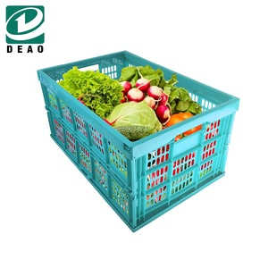 High Quality Plastic Material Folding Crates For Vegetable
