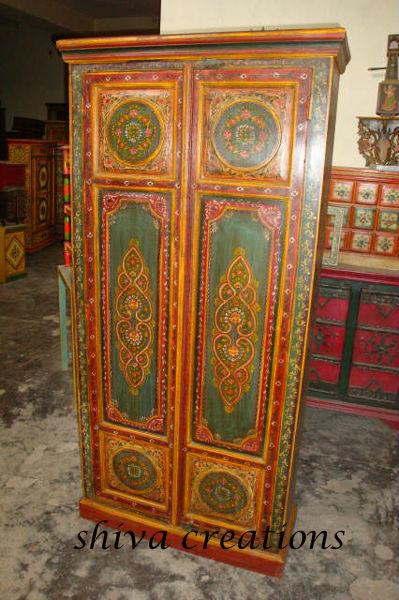 Hand Painted Wardrobe Indian Painted Furniture Buy