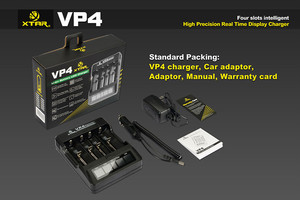 Authentic XTAR VP4 18650 solar battery charger XTAR VP4 battery charger with top quality/Xtar VP4 battery charger