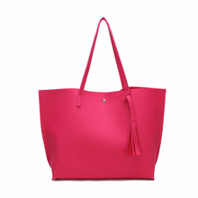 OLB001 free sample Women Large Tote Bag Tassels Faux Leather Shoulder Handbags Fashion Ladies Purses Satchel Messenger Bags