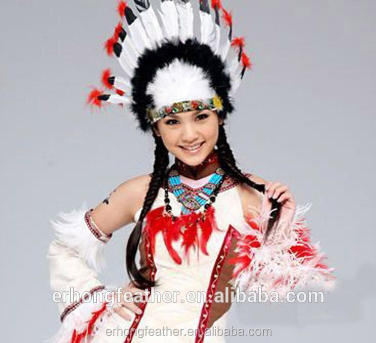 Hot sale Carnival Party Native American Indian Feather Headdress