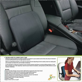 Adjustable Car Seatslumbar SupportMassage CushionAdjustable Seat Cushionback Cover