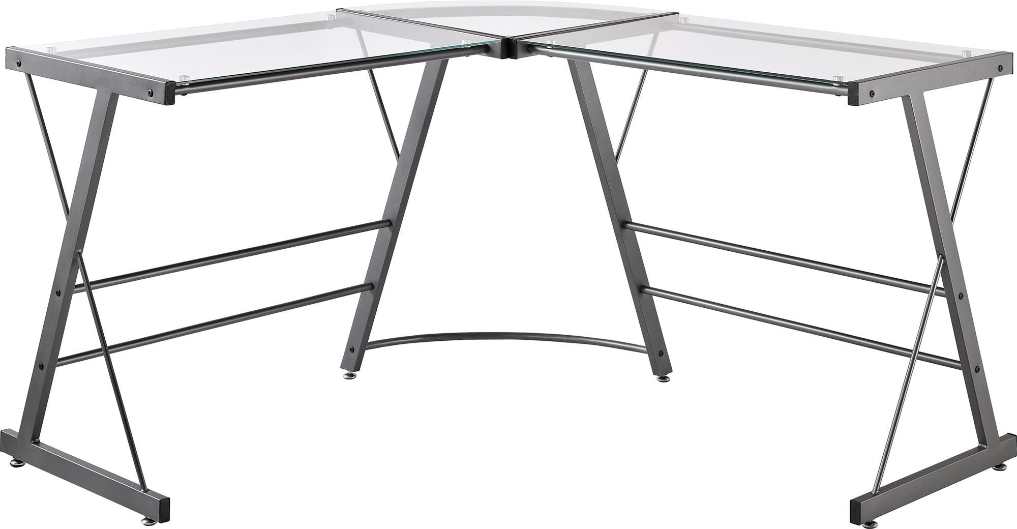 grey most table shaped glass executive creativity divine with l storage desk computer