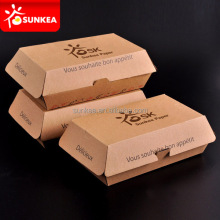 Disposable large kraft paper hot dog food box