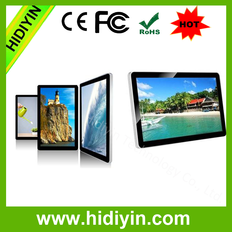 Front acrylic panel 32 inch full hd lcd usb video advertising display