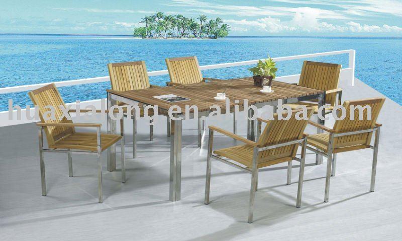 high class teakholz gartenmöbel-set im garten-produkt id:395295303,