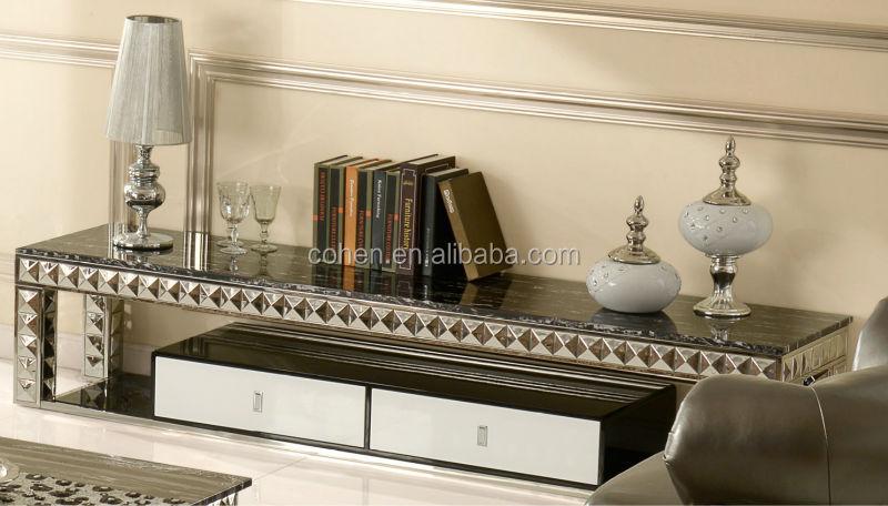 Mobili soggiorno moderno acciaio e vetro design italiano porta tv ...