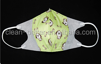 NIOSH disposable N95 dust respirator face mask/OEM Funny printed disposable kn90 face mask foldable mouth dust face mask