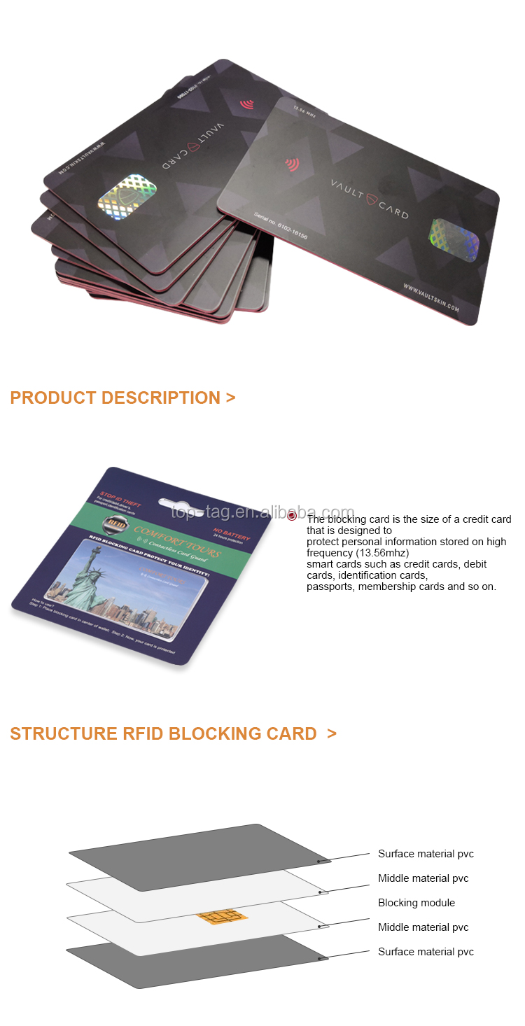 Popüler ürün 2016 RFID engelleme kart kredi kartı korumak/bankamatik kartı/KIMLIK kartı