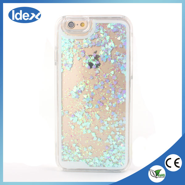 2016 New Fashion wholesales Dynamic star love heart Liquid Quicksand case covers For iphone 6 6s