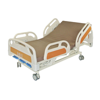 Hospital nursing manual crank ward bed with ABS mattress board