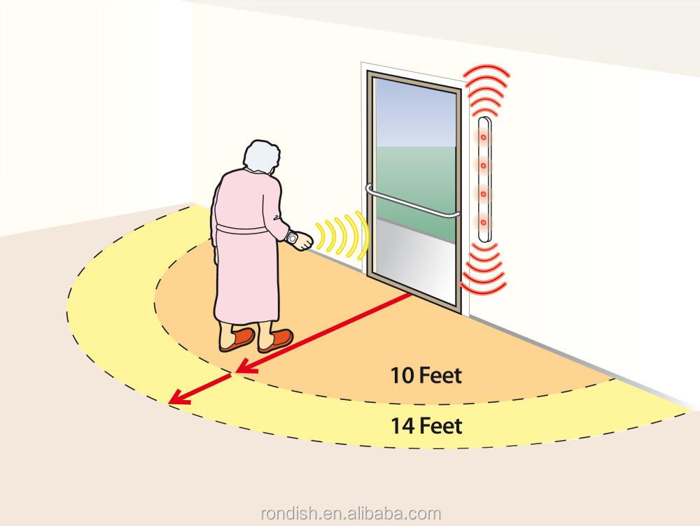 Elderly Security Alarm Systems Wireless Door Monitor Alarm