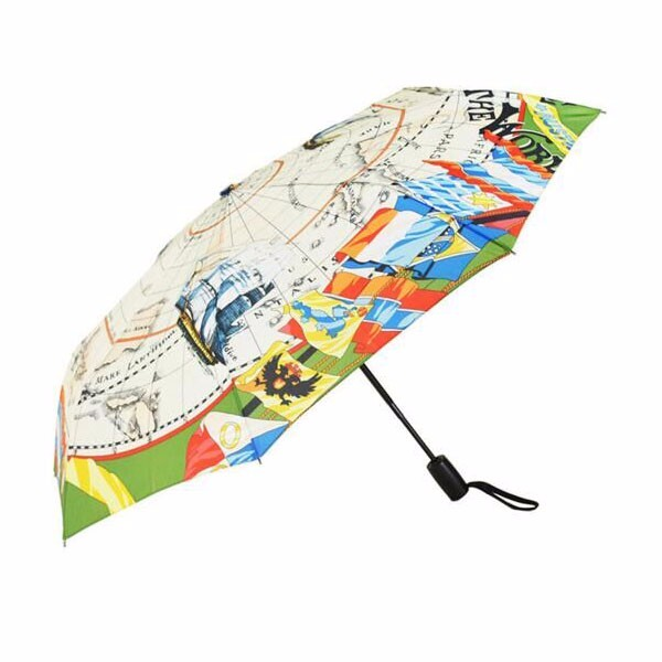 OEM customized logo auto open close full color printed fold promotional umbrella