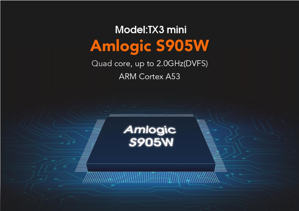 Amlogic S905w Tv Box 4 K Hd Tx3 Mini 1 GB 16 GB reproductor multimedia Quad Core Android 7,1 unidades Top Box