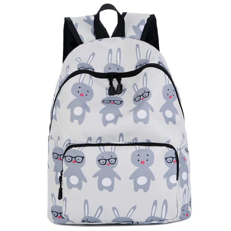 7d17a3804 Feminino esportes ao ar livre moda menina impressão nylon saco de escola  saco estudante mochila masculino