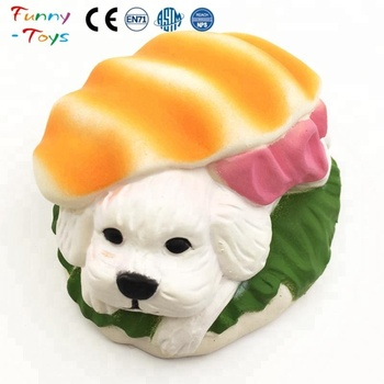 Sushi Dog Hamburger Kawaii Animal Squishy Charms Buy Dog Hamburger