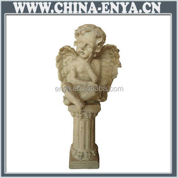 Hecho en china estatuilla ángel de metal útil