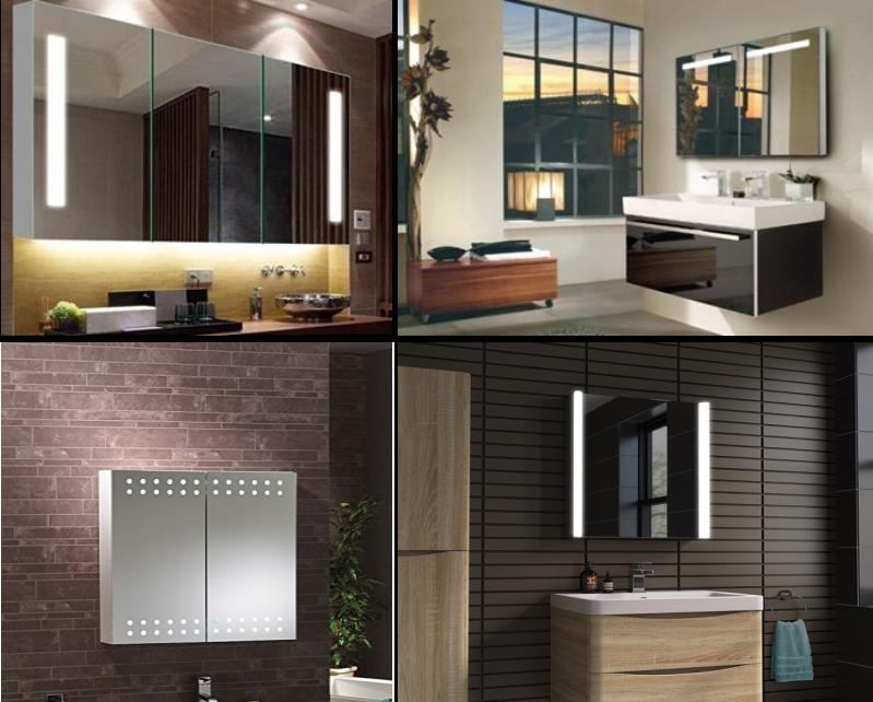 Led Aluminium Bathroom Cabinets With Light