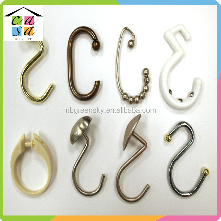 Manufacturer supply high quality metal shower curtain hooks