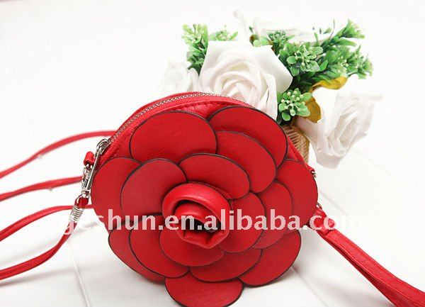 Stock Leather Flower Shaped Coin Purses -