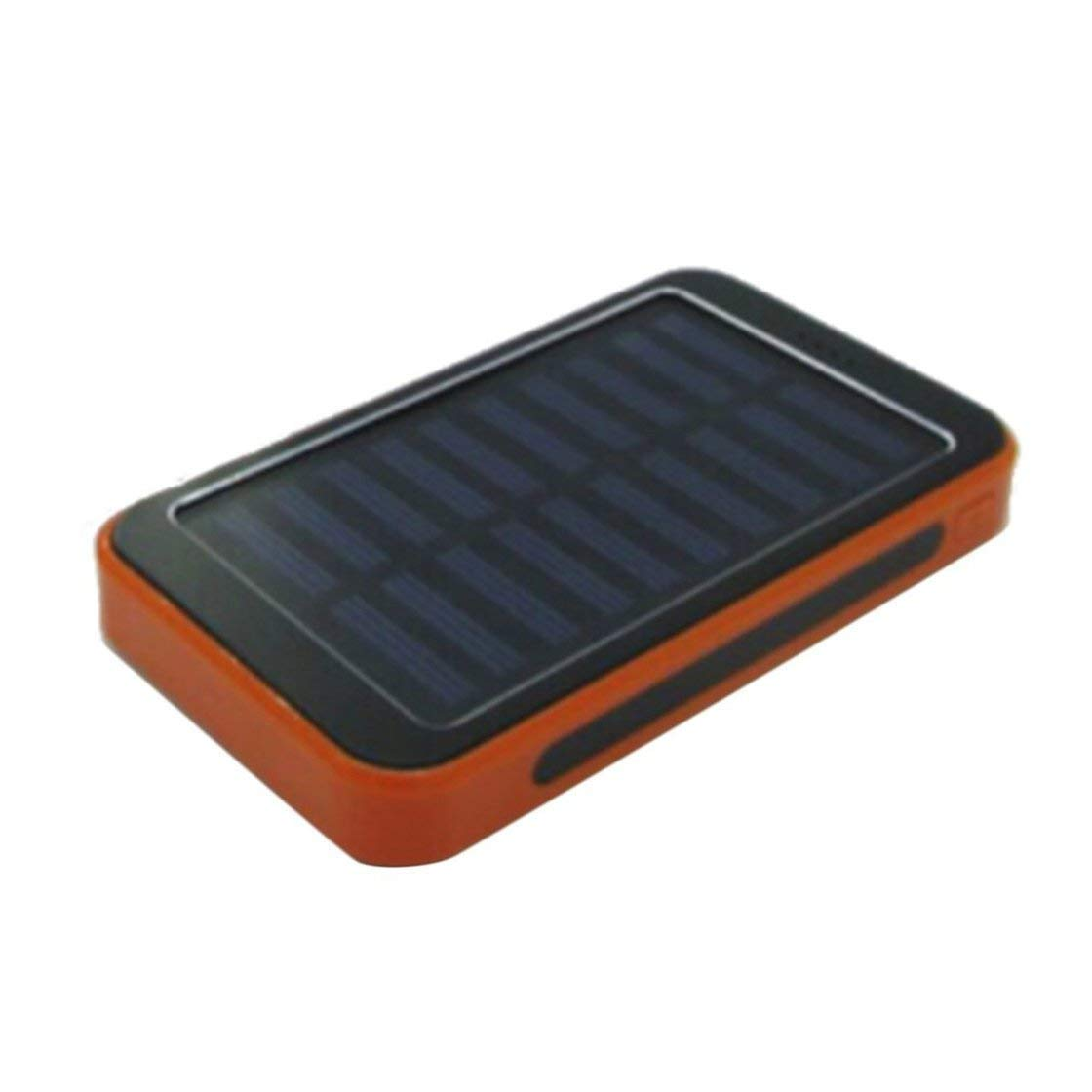 100000mAh Solar Panel Power Bank Dustproof Dual USB Charger Large Capacity Portable External Power Bank with 20LED Light