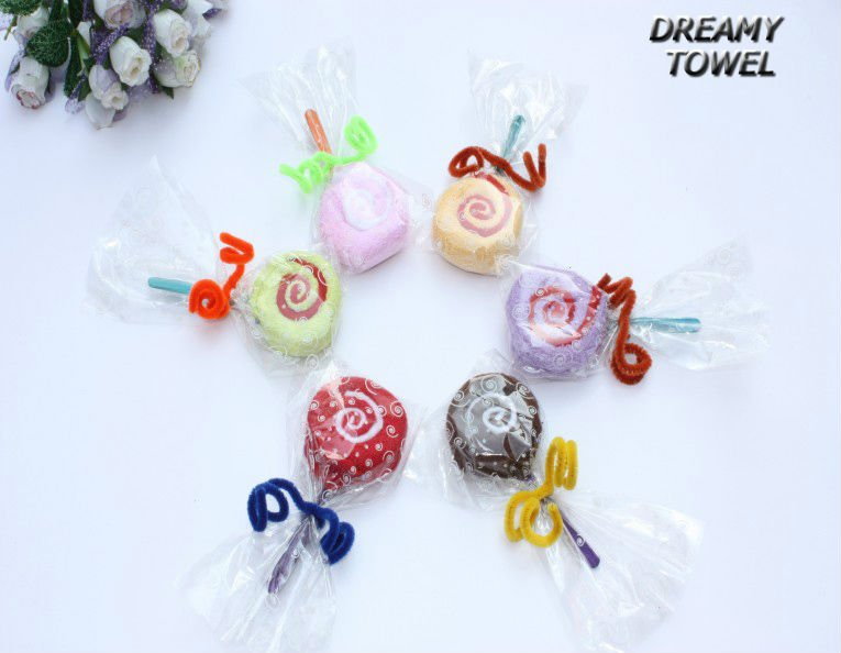 Free shpping via EMS 160pcs/lot ,MX-25B  Small lollipop B Cake towel ,Handmade with cotton towel Children gifts Christmas gifts