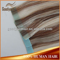 wholesale piano color tape in hair extension