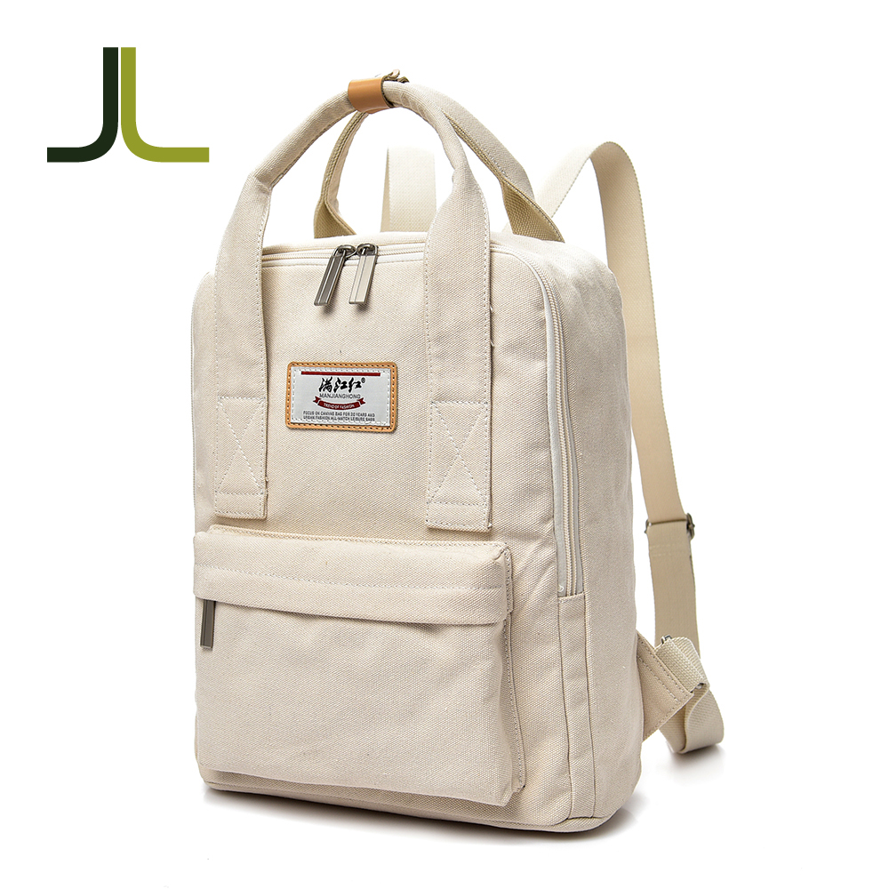 Simple style canvas backpack sport leisure bags vintage back pack