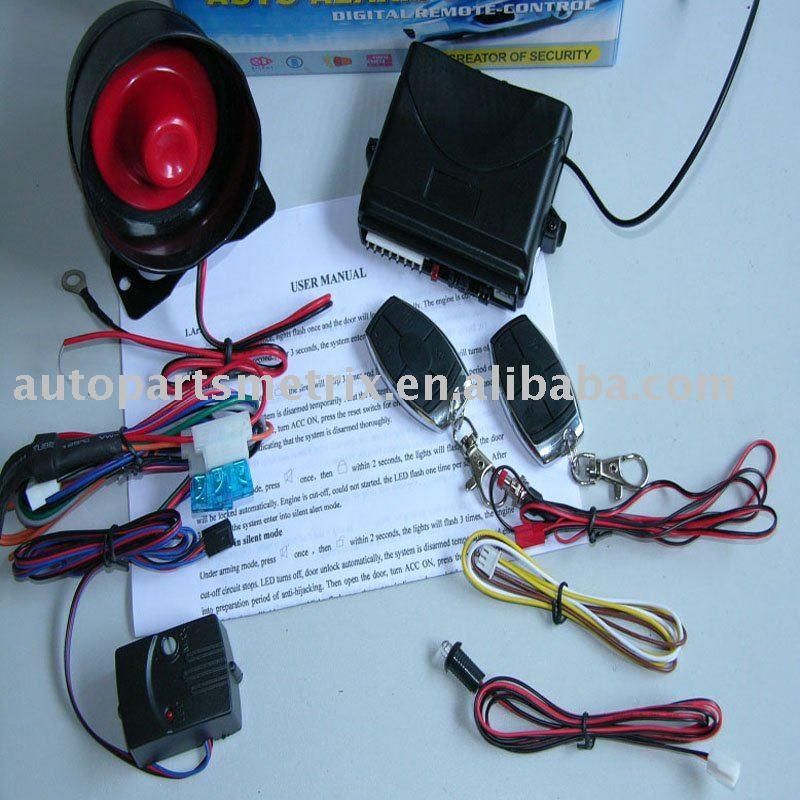 Negative Door Trigger One Way Car Alarm Dc-2/lx107 - Buy One Way Car ...