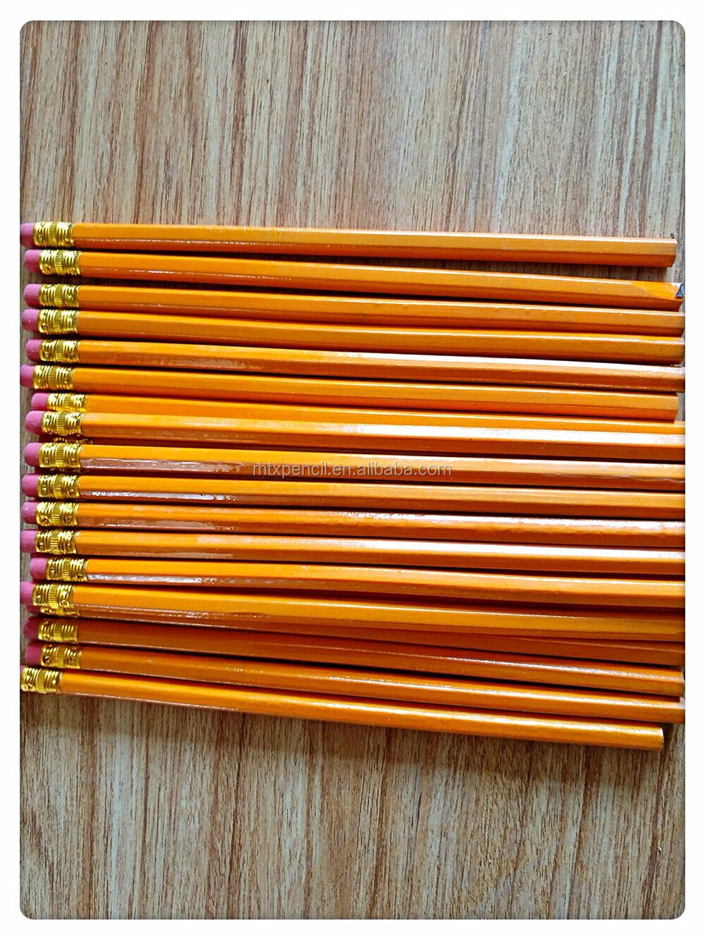 school The office cheap wholesale yellow wooden pencil with eraser