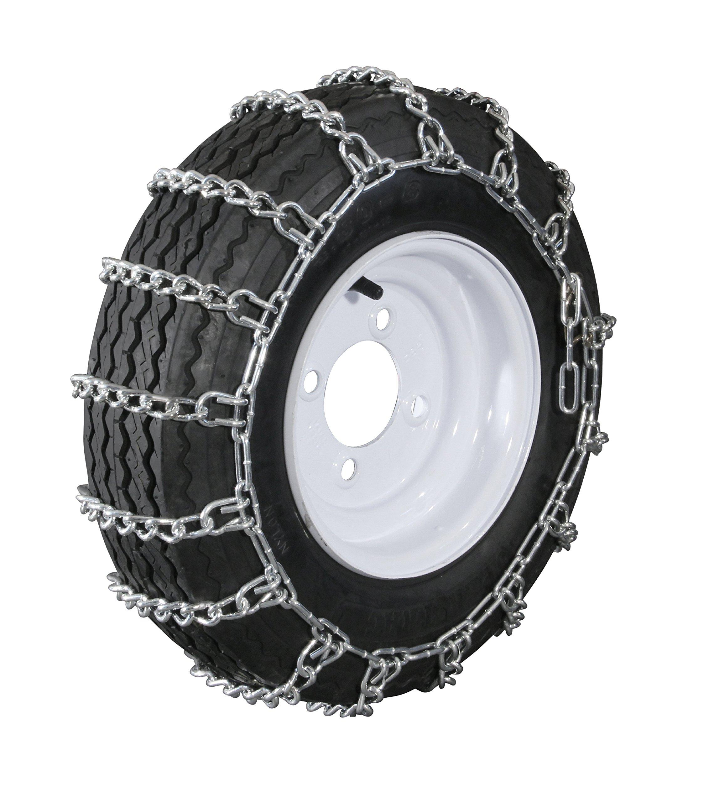 The ROP Shop New Pair 2 Link TIRE Chains 15x6x6 15x5x6 14x5.50x5 for UTV ATV Peerless MaxTrac