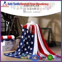 American Flag Design flannel Blanket Made In China Wholesale American USA Blanket
