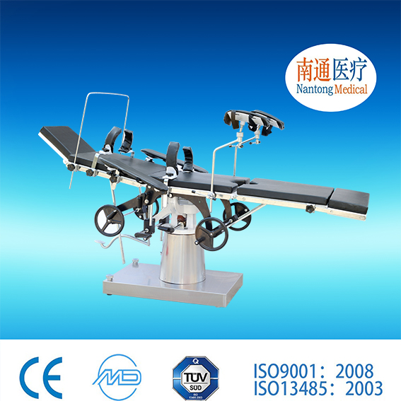 Credit First! Nantong Medical double layer tabletop C arm compatible mechanical operating table Of New Structure