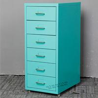 STEELITE Under Counter File Cabinet 6 Drawer Mobile File Cabinet on Wheels
