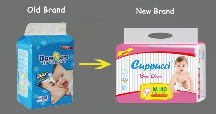 OEM private label cheap price soft cotton disposable baby diapers