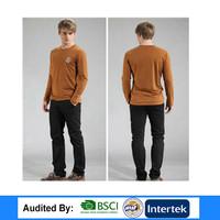 The Fashion European Buyer Of Garments Shirt Brand Long Sleeve Men T Shirt