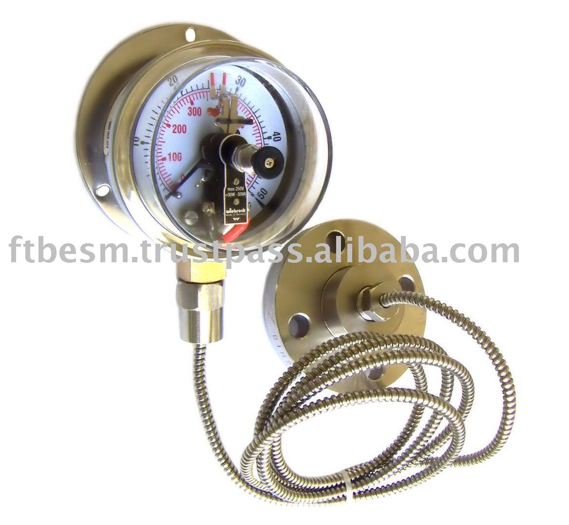 Electrical Contact Pressure Gauges With Diaphragm Seal With ...