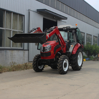 100hp farm tractor with YTO engine,front end loader