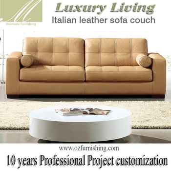 dz306 simple modern luxury living furniture italy yellow leather