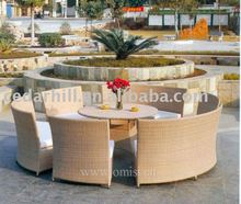 2012 New design big dining sets ,rattan outdoor furniture.