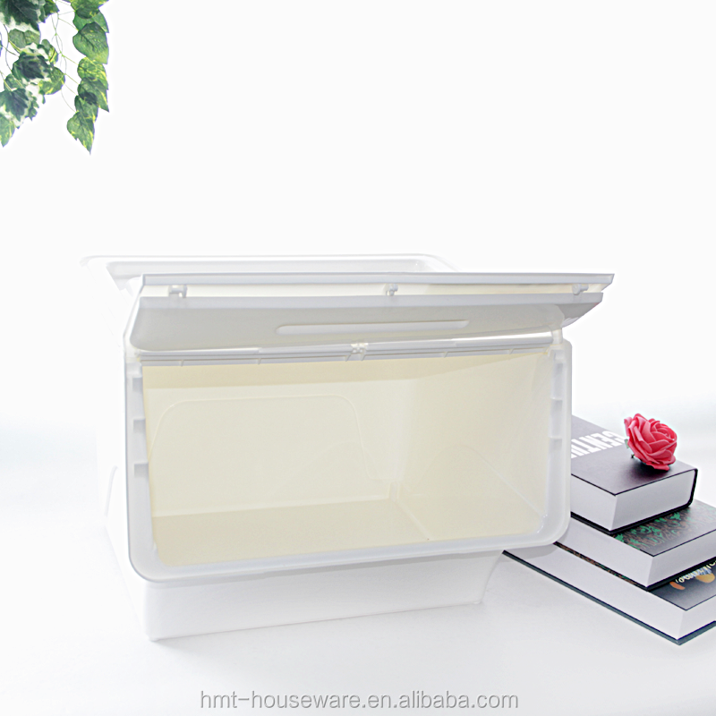 hot selling 36liter large plastic clear containers with lids side open box wham plastic storage boxes