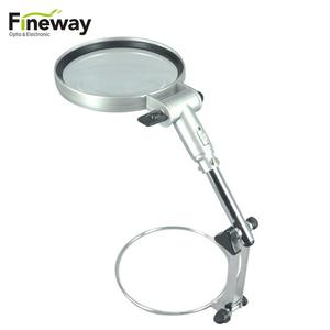 FW3B-1 130MM Adjustable Metal Table Top Magnifying Lamp Hands Free Magnifier