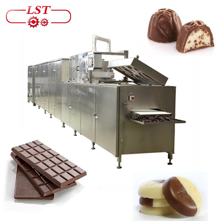 טהור שוקולד ביסקוויט עם שוקולד שוקולד מכונת ציוד מפעל מכונת דפוס