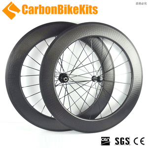 CBK SR80C 700c carbon bicycle wheelset 80mm bike dimple wheels clincher