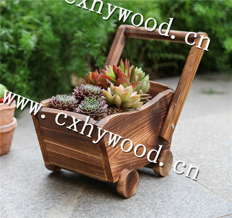 Wooden Train Planter Pot Fsc Wood Nice Garden Decor Home Decoration