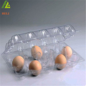 15 Holes PET vaccum form disposable plastic egg trays for eggs