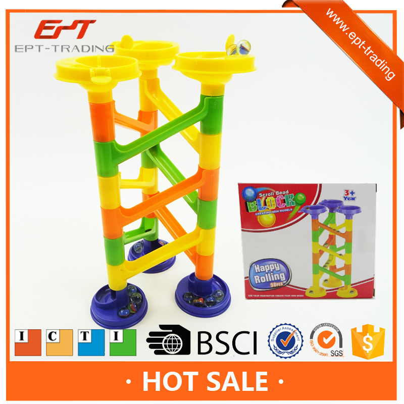 Diy educational blocks maze marble run game toy for kids