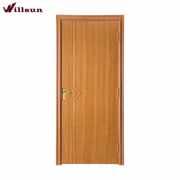 Tasteful Natural Flat Security Wood Inter Doors For Home