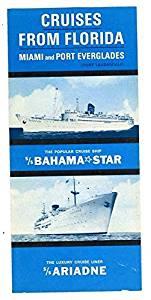 Eastern Steamship Cruises from Florida 1965 Brochure Bahama Star & Ariadne