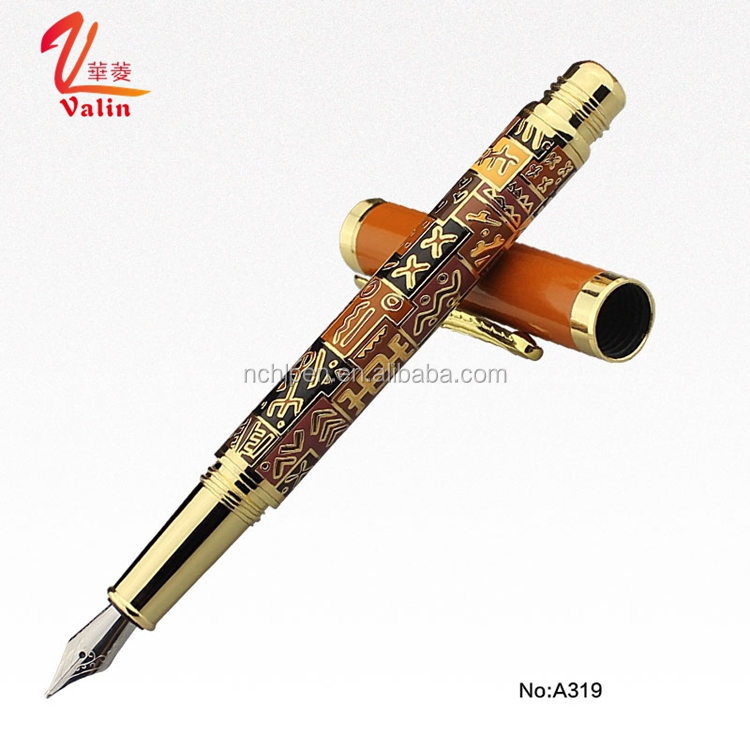2016 Exclusive Novelty Luxury Gold Metal Fountain Pen Best Calligraphy Pen for Perfect Corporate Gift